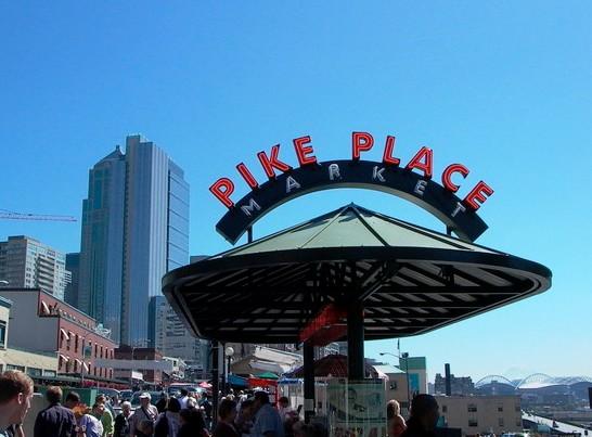 派克市场 翡翠之城惬意之旅 免费畅游西雅图五大景点高清图片